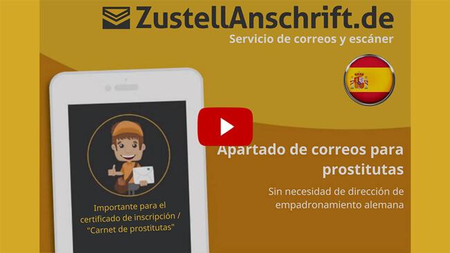 Dirección de entrega de vídeo explicativo para SexWorker, ProstSchG