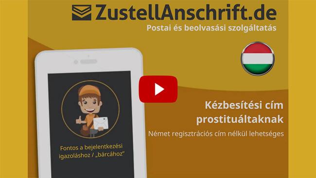 Magyarázó videó Szállítási cím sexworker, ProstSchG